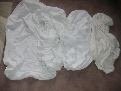 4 X  Mothercare Cot Bed Fitted Sheets 70X140Cms Guc 3 X White 1 Cream