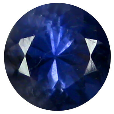 0.68 Ct AAA Incomparable Forme Ronde (6 X 6 mm) Iolite Naturel Libre