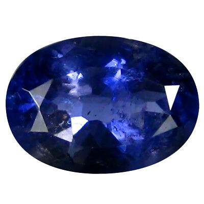 1.06 Ct AAA Formidable Forme Ovale (8 X 6 mm) Iolite Naturel Libre