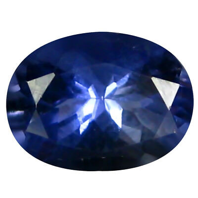 1.09 Ct AAA Merveilleux Forme Ovale (8 X 6 mm) Iolite Naturel Libre