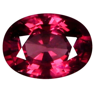 1.24 Kt AAA+ Awe-Inspiring di Forma Ovale (7 x 5 mm) Rosato Rosso Rhodolite