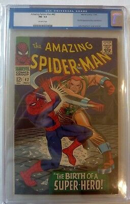 Amazing Spider-Man 42 Silver Age First Mary Jane Watson Face CGC Graded 5.5 1966