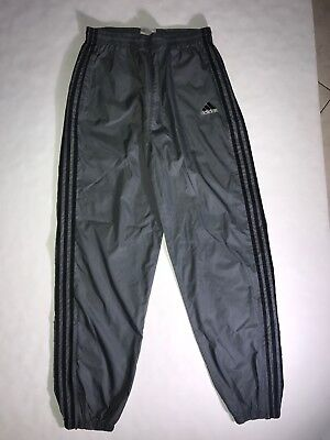 Adidas Mens Track Pants Size L Vintage Athletic Track Wind Breakers Retro 90s