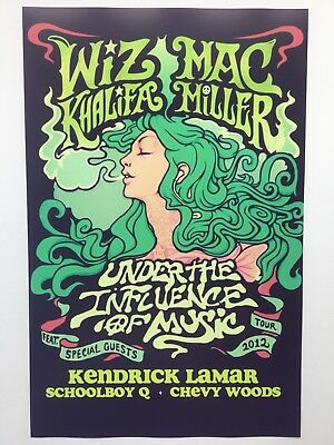 Mac Miller 11x17 Under the Influence of Music Tour Poster (2012)