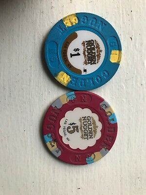 Golden Nugget Las Vegas $1 & $5 Chip