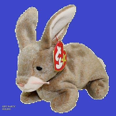 TY Beanie Baby - NIBBLY the Brown Rabbit (6 inch)> BUY 4  BEANIES GET 1 FREE