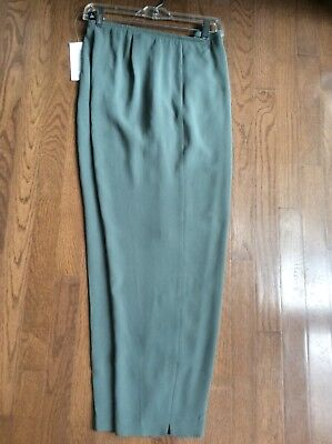 $228 EILEEN FISHER Amaryllis Silk Georgette Crepe Straight Trouser XS S XL NWT