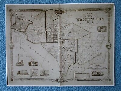 "Civil War Map -  ""Washington D.C. IN 1851"" - i combine shipping - SEE MY MAPS"