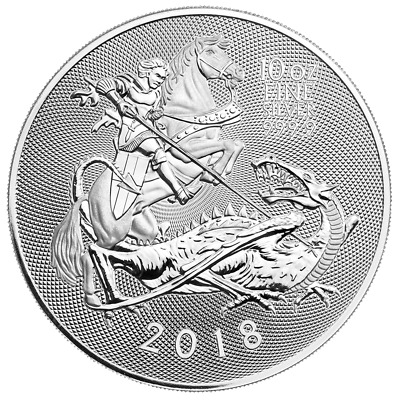 2018 U.K. 10 Pound Silver Valiant .9999 10 oz Brilliant Uncirculated