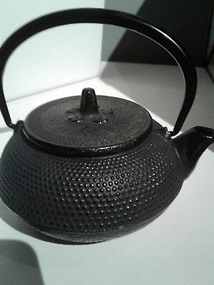 Antique Japanese small cast iron Tetsubin teapot 5 inches