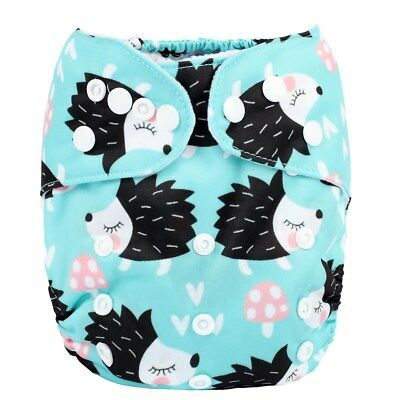 2018 New Baby Pocket Cloth Diaper Nappy Reusable Washable Hedgehog
