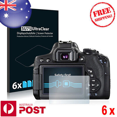 6x Savvies® SU75 HD Screen Protector for Canon EOS 750D - P078BF