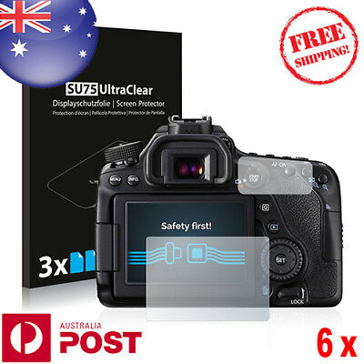 6x Savvies® SU75 HD Screen Protector for Canon EOS 80D - P077B