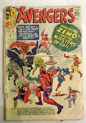 The Avengers 6 Silver Age 1964 First Baron Zemo & Masters Of Evil