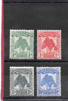 Gilbert & Ellice GV,1911 set of four  sg 8-11 H.Mint