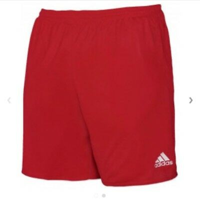 """Adidas """"Brand New"""" Bnwt In Packaging Red Parma Training Shorts"""