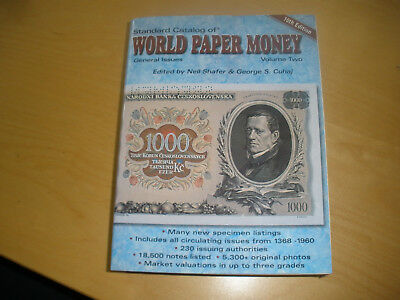 World Paper Money Volume 2 - general issues -  10th Edition