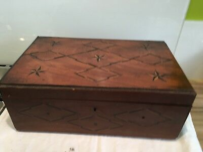 Antique Inlaid Writing Slope For Restoration 36 X 23 X 14 Cm