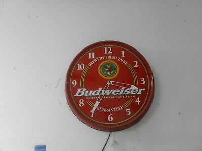 Budweiser Vintage Electric Illuminated Wall Clock