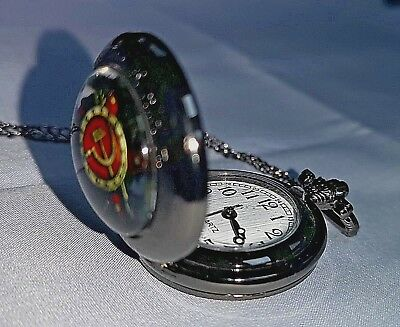 Russia Pocket Watch Necklace Pendant World Cup 2018 Fob Soviet World War I II UK