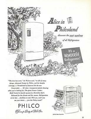 "1948 Philco Refrigerator Ad - ""Alice in Philcoland"""