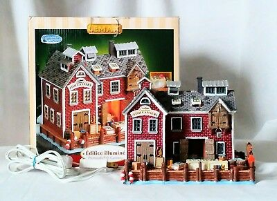 """LEMAX Village Collection, retired """"Plymouth Fish Cannery"""" Plymouth Corners 2005"""
