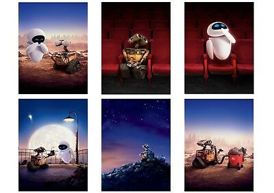 Disney: Wall-E, Eve A5 A4 A3 Textless movie Posters