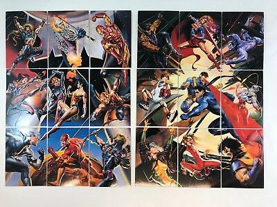 DC VS MARVEL Skybox 1995 Complete EMBOSSED IMPACT Chase 18 Card Set Boris Julie
