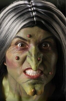 Adult Green Latex Witch Wizard set Nose & Chin Costume Prosthetic