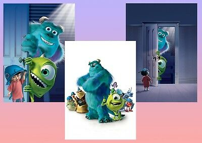 Disney: Monsters inc  A5 A4 A3 Textless Movie Posters