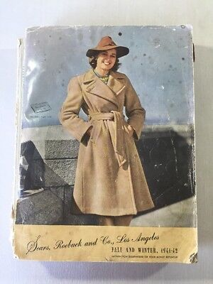 Vintage Sears Roebuck Co. 1941 -1942 Catalog Los Angeles Fall Winter