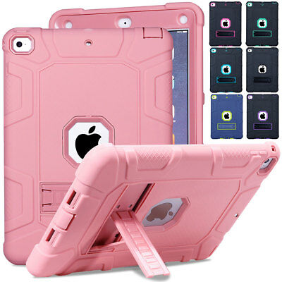Hybrid Rubber Bumper Case with Stand Cover For Apple iPad 9.7 6th 5th Generation