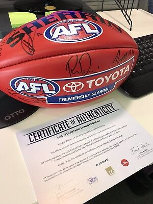 Official AFL Game Ball signed by 2018 Club Captains