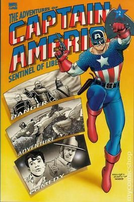 Adventures of Captain America #2 1991 VF Stock Image