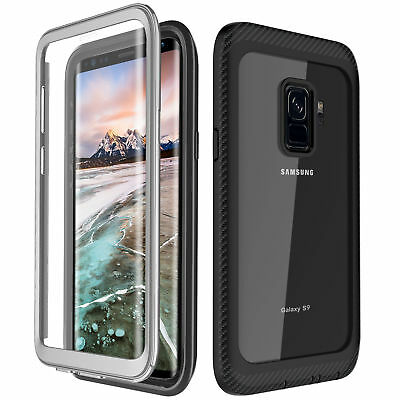 For Galaxy Note 9/S9/S9+Case Built-in with Curved Screen Protector Shockproof