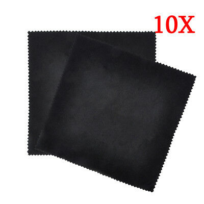 10 Pack Premium Microfiber Cleaning Cloths for Lens Glasses Screen Jewelry New
