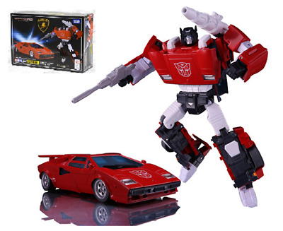 "Masterpiece MP12+ Autobots Sideswipe Lambor LP500S Figure 5.5"" Toy New in Box"