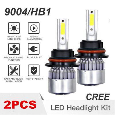 9004 HB1 LED Headlight 1300W 195000LM Conversion Light Bulbs HI/LOW Beam 6000K