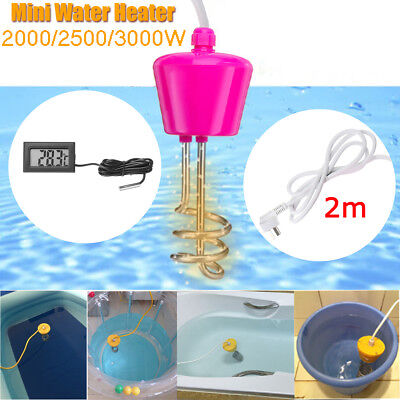 3000W Suspension Immersion Water Heater Element Boiler for Pool w/ Thermometer