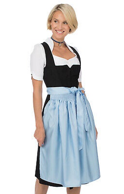 Stockerpoint Dirndl Apron Midi 70cm SC270 Light Blue