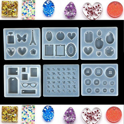 Necklace Pendent Silicone Mould Resin Decorative Craft Jewelry DIY Making Mold