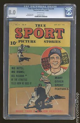 True Sport Picture Stories Vol. 4 #9 1948 CGC 8.0 0279173015