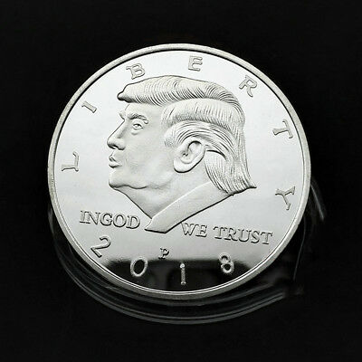 2018 President Donald Trump Inaugural Silver Plated EAGLE Commemorative Coin Box