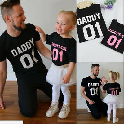 Father Daughter T-Shirts DADDY and DADDY'S GIRL 01 Daddy and Me Outfits Shirt Z
