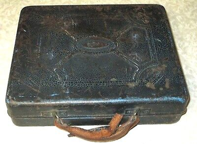 RARE Polydor Marked Metal carry case for 78 rpm RECORDS / 10 inch