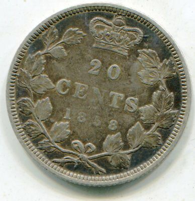 Canada 20 Cents 1858 nice problem free coin scarce lotsep4530