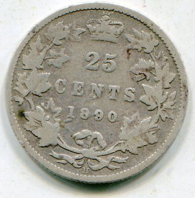 Canada 25 Cents 1890-H  lotsep2580