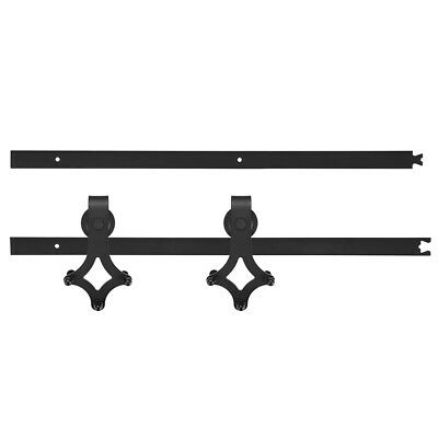 1.83/2m Sliding Barn Door Hardware Set Kit Smooth Track Rail for Indoor Closet