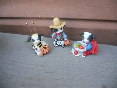 Lot of 3 Mary's Moo Moos Halloween Figures Trick Or Treat Busy Bee-ing Sweet