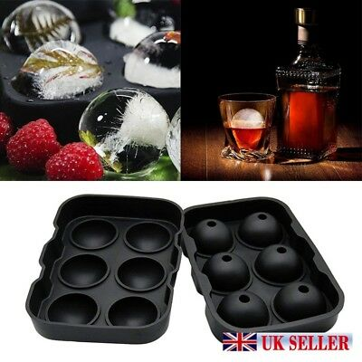 Whiskey Ice Cube Ball Maker Silicone Mold Sphere Mould Tray Round Bar Party